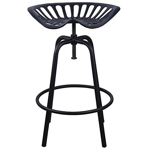Esschert Design - Chaise Tracteur - 50 x 46,5 x 69,7, Fonte, Acier, Noir, 50 x 46.5 x 69.7 cm