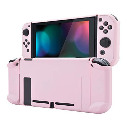 eXtremeRate PlayVital Cover Custodia Protettiva per Nintendo Switch Joycon Console Copertura Rigida Case Separabile per Nintendo Switch(Sakura Rosa)
