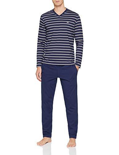 Hom Giverny Long Sleepwear Ensemble de Pyjama, Bleu (Navy 00ra), Small (Taille Fabricant: S) Homme