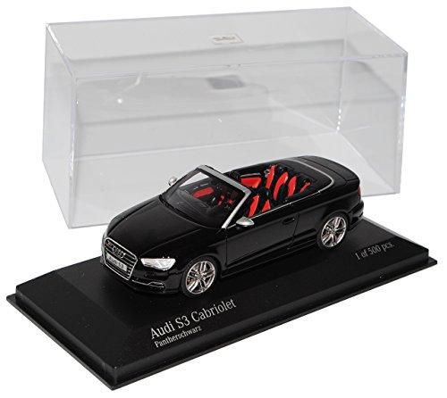 Minichamps A-U-D-I A3 S3 8V Cabrio Schwarz Ab 2013 1/43 Modell Auto mit individiuellem Wunschkennzeichen
