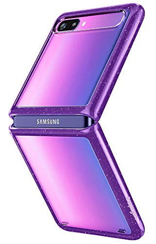 Spigen Ultra Hybrid Hülle Kompatibel mit Samsung Galaxy Z Flip -Purple