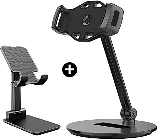 Soporte de teléfono celular, soporte de teléfono plegable ajustable del teléfono portátil para escritorio Tablet soporte soporte de aleación de aluminio Cuna