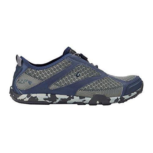 OluKai New Men's 'Eleu Trainer Water Shoe Charcoal/Trench Blue 9