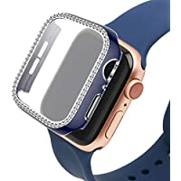 40mm/44mm Apple Watch Case with Bling Crystal Diamonds (Blue or Pink)