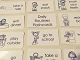 29 Laminated Black and White Preschool Daily Routines Flashcards.