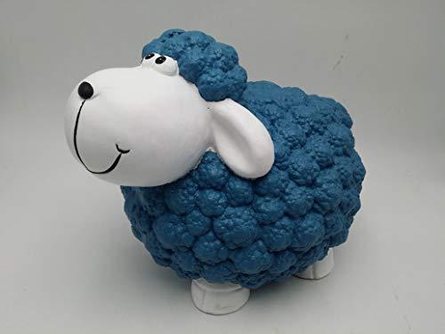 VANA Gartendekoration Gartenbeleuchtung Verschiedene Dekofiguren Gartenfiguren Tieren Blumentopf Pflanzgefäß für Außen und Fest (Schaf Blau)