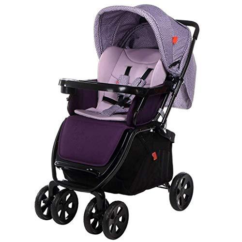 Zwei-Wege-Kinderwagen Travel Einhand Folding Leichte 6-Rad-Jogger Compact Kinderwagen von Geburt bis 25 kg