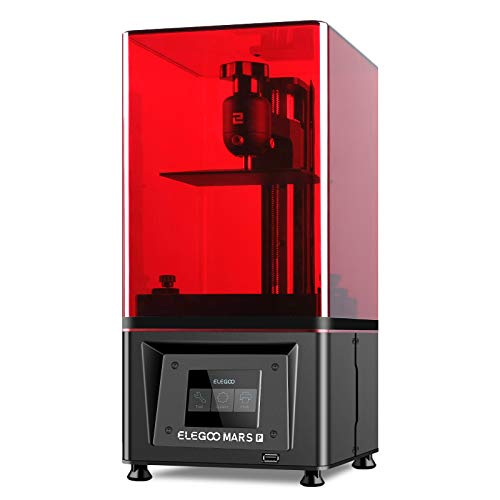 ELEGOO Mars Pro Imprimante 3D LCD/MSLA avec Source de Lumière LED UV avec Filtre à Charbon Activé pour Impression Hors Ligne de Taille 115 * 65 * 160mm