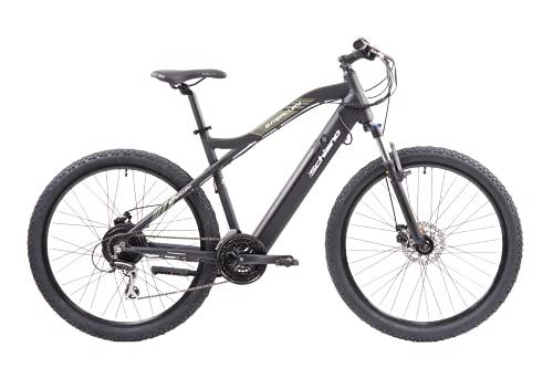 F.lli Schiano E- Mercury, Bicicletta elettrica Unisex Adulto, Nera, 29''