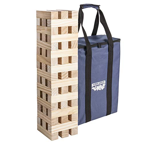 Triumph Giant Tumble Tower - Includes 51 Solid Wood Tumble Blocks and Carry Bag