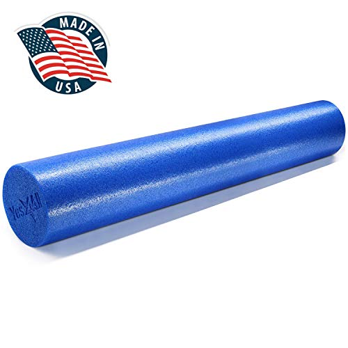 Yes4All 36 inch Foam Roller - High Density Foam Rollers/Round Foam Roller for Physical and Exercise, Back Roller (Blue)