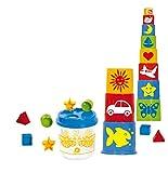 GOWI 453-20 Steckbox Biene mit Pyramide 20teilig, Stapel- und Geschicklichkeitsspielzeug