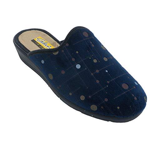 Zapatillas Mujer Abiertas por detrás Lunares Aguas Nuevas en Azul Talla 38