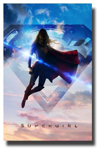 SuperGirl Poster TV Show Promo 11 x 17 inches Super Girl Symbol