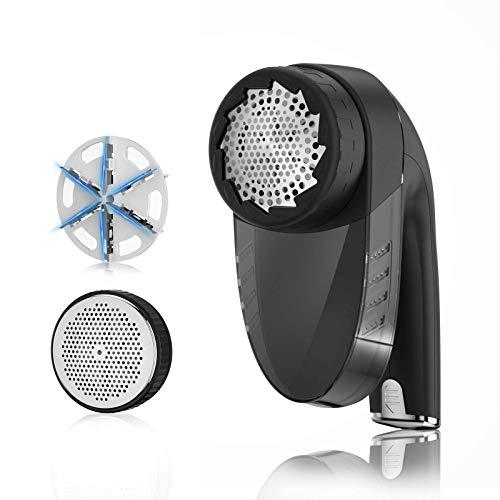Aerb Quitapelusas: Quitapelusas Electricode Elta Calidad, con Una Cuchilla de Acero Inoxidable de 6 Hojas Reemplazables, USB Recargable 60 Minutos de Tiempo de Trabajo… (Negro)