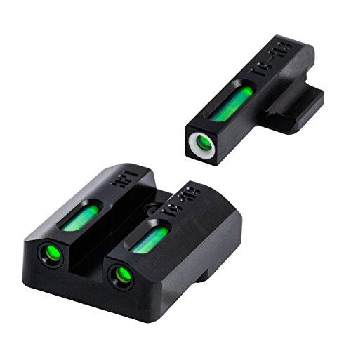 TRUGLO TFX Tritium and Fiber-Optic Xtreme Handgun Sights for H&K VP9, VP40, P30, P30SK, P30L, 45, 45 Tactical (Including Compact)