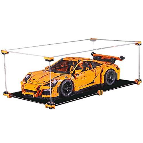 Nlne Vitrina Acrílico para Technic Porsche 911 GT3 RS 42056, Caja De Exhibición A Prueba De Polvo (NO Incluido El Modelo Lego)