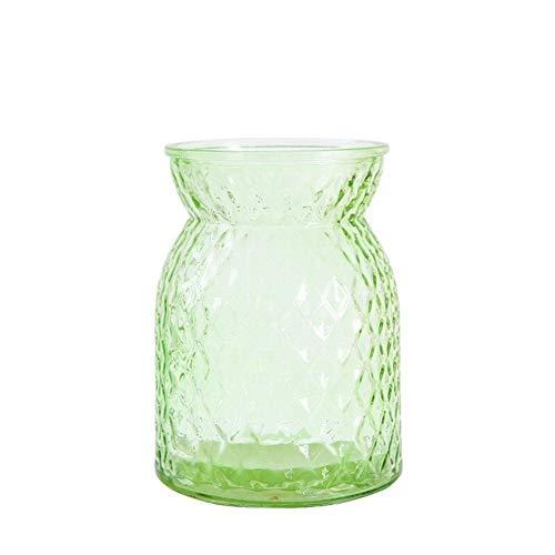 Bloem van het glas Vazen Bloemenvaas Glass Terrarium Vetplanten Plant Gift Micro Landschap Cover En Filler Terrarium voor Verjaardag Wedding (Color : Green)