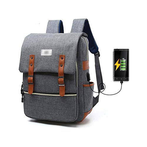 GAONAN USB Fashion Oxford cloth backpack, Business Resistant Laptops Backpack Gift for Men Women, with Usb Charging Port, Suitable for Business Travel College Messenger & Shoulder Bags