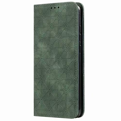 Samsung Galaxy A52 5G Case, 3D Painted Shock-Absorption Flip PU Leather Notebook Wallet Cases Folio Magnetic Protective Cover Bumper with Stand Card Holder Slots for Samsung Galaxy A52 5G Dark green