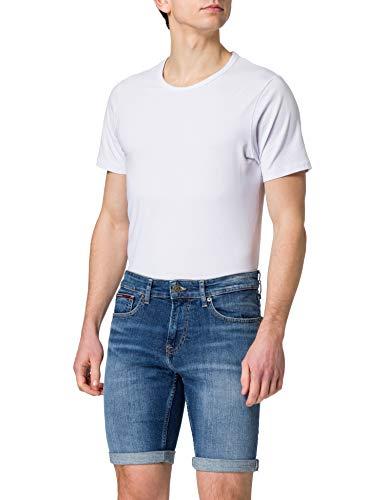 Tommy Jeans Scanton Slim Denim Short HMBS Jean, Hampton MB STR, W34 Homme