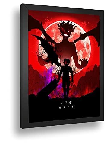 Quadro Decorativo Poste Asta Black Clover Anime Demonios