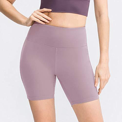 Walmeck Pantalones Cortos de Yoga para Mujer Medias de compresión sin Costuras de Cintura Alta Leggings para Correr de Entrenamiento físico