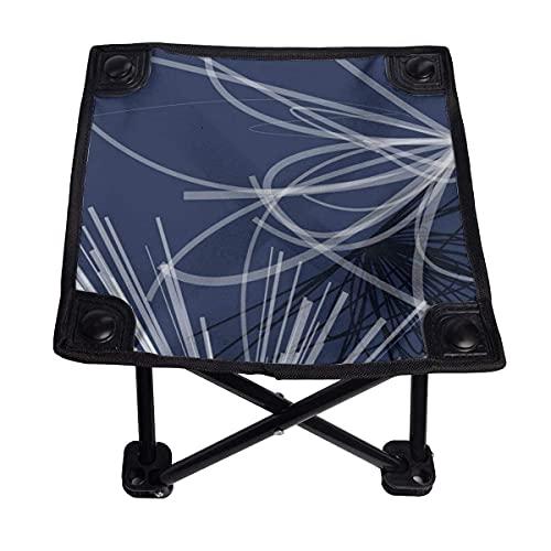 CHISHANG Azul, Blanco, diseño de Cinta Abstracta, Silla Plegable pequeña, Taburete Plegable,...