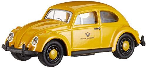 Schuco 452640300 VW Käfer DP, 1:87 452640300-VW, gelb, Modellauto, Modellfahrzeug