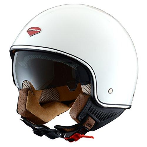 Astone Helmets Casco Jet-Mini, diseño Retro, color Blanco (Gloss Blanco), talla L