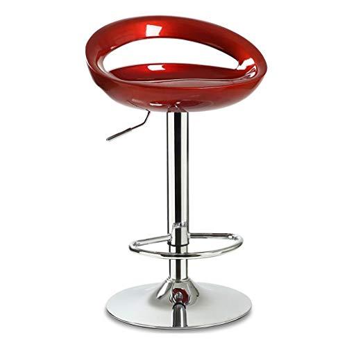 XQAQX kruk eetstoelen in hoogte verstelbare keukenwervel met rugleuning voetensteun ABS zitting metalen voet stool