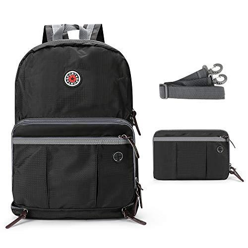 Laelr Laptoprugzak 20-35L Packable Rugzak Opvouwbare Daypack Draagbare schoudertas Nylon Water