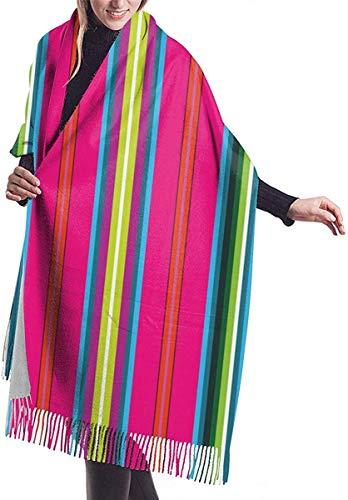 yunshenbuzhichu Andean Textile Uno Womens Pashmina Schals Wraps Warme Winterschals Geschenk Reversible Soft Cashmere Feel Herbst Schal für Mädchen