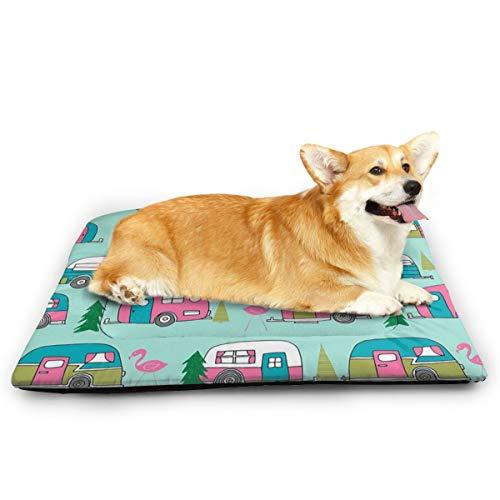 Niet toepasbaar Happy-Camper-Flamingos huisdier kat en hond Pad waterdicht huisdier matras absorberende handdoek tapijt, 31