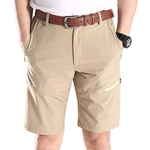 WYX Shorts Für Männer, Outdoor-Sportarten Schnelle Trockene Laufshorts Hohe Elastizität Gerade Hose Mit Innenfutter,3,2XL