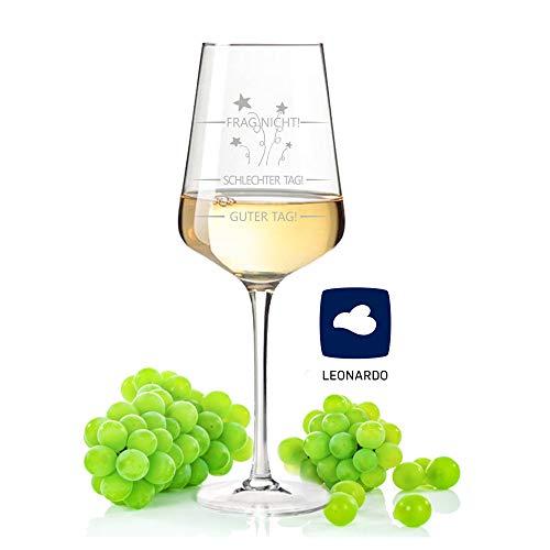 GRAVURZEILE Leonardo Puccini Weinglas mit Gravur Schlechter Tag, Guter Tag, Frag nicht - Witziges Geschenk - Wie war dein Tag? - Weinliebhaber