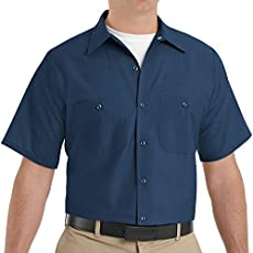 Red Kap Industrial Solid Work Shirts SP24 Navy X-Large - 2 Pack