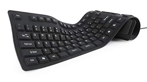 Gembird KB-109F-B Tastatur USB + PS/2 QWERTY Schwarz - Tastaturen (Verkabelt, USB + PS/2, QWERTY, Schwarz)