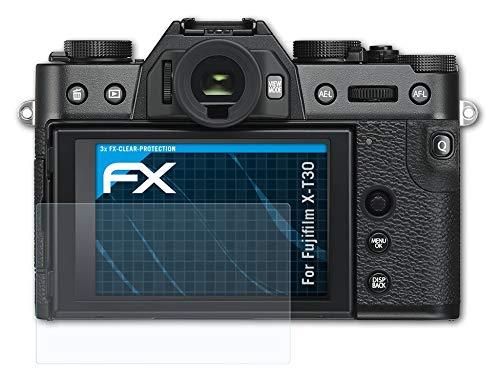atFoliX Schutzfolie kompatibel mit Fujifilm X-T30 Folie, ultraklare FX Bildschirmschutzfolie (3X)