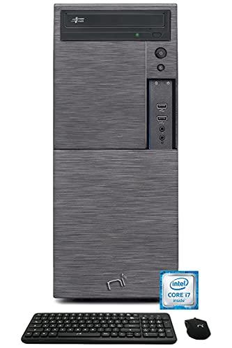 Computer pc fisso intel core i7 quad-core, ram 16gb, ssd 240gb, hard disk 1Tb, licenza Windows 10 pro, dvd-rw, Hdmi Vga WiFi Nonsoloinformatica pc desktop completo con Tastiera Mouse wireless omaggio
