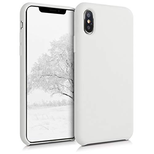 kwmobile Hülle kompatibel mit Apple iPhone XS - Hülle Handyhülle gummiert - Handy Hülle in Weiß