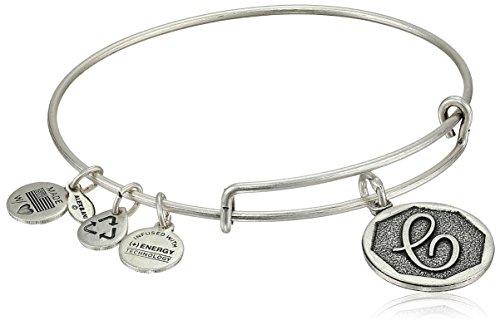 Alex and Ani Initial 'C' Expandable Charm Bracelet, Rafaelian Silver-Tone