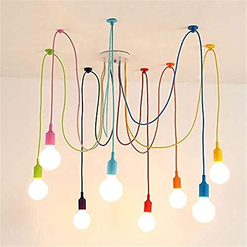 Yxsd Lámpara araña de Color Araña Lámpara Colgante Luz de Techo 8...