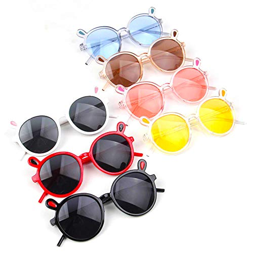 7PCS Cute Kids Sunglasses Rabbit Ears Designer Kids Sun Glasses Eyewear Eyeglasses UV400 For Boys&Girls Age 3-10