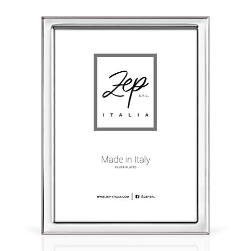 Cornice da Tavolo in Silver Plated per foto 13x18, Posizionabile anche Orizzontalmente, Made in Italy (ORTONA, 13x18)