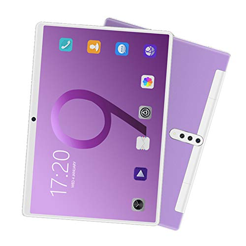 ELLENS Tableta Android 8.1 de 10.1 Pulgadas, 2GB RAM 32GB ROM, Procesador Quad Core, Pantalla IPS HD 1280 * 800, Wi-Fi, Bluetooth, GPS, Aspecto Hermoso (Morado/Verde/Negro/Plateado)