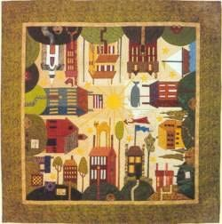 Quakertown All Around The Town House Applique Pattern Max 76% OFF 12 Set Courier shipping free shipping BOM
