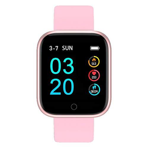 Bluetooth Smartwatch, Fitness Uhr Intelligente Armbanduhr Fitness Tracker Smart Watch Sport Uhr mit Kamera Schrittzähler Schlaftracker Romte Capture Kompatibel mit Android Smartphone (P68 Rotgold)