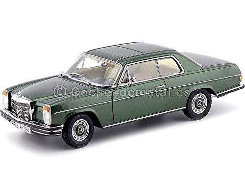 1973 Mercedes Benz Strich 8 280C Coupe W114 Moss Green 1:18 Sun...