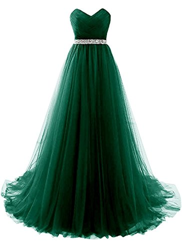 Army Green Strapless Prom Dress Tulle Princess Evening Gowns with Rhinestone Beaded Belt Size 22W